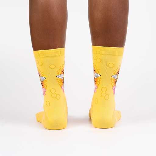 Sock It To Me - Queen Bee Crew Socks | Women's - Knock Your Socks Off
