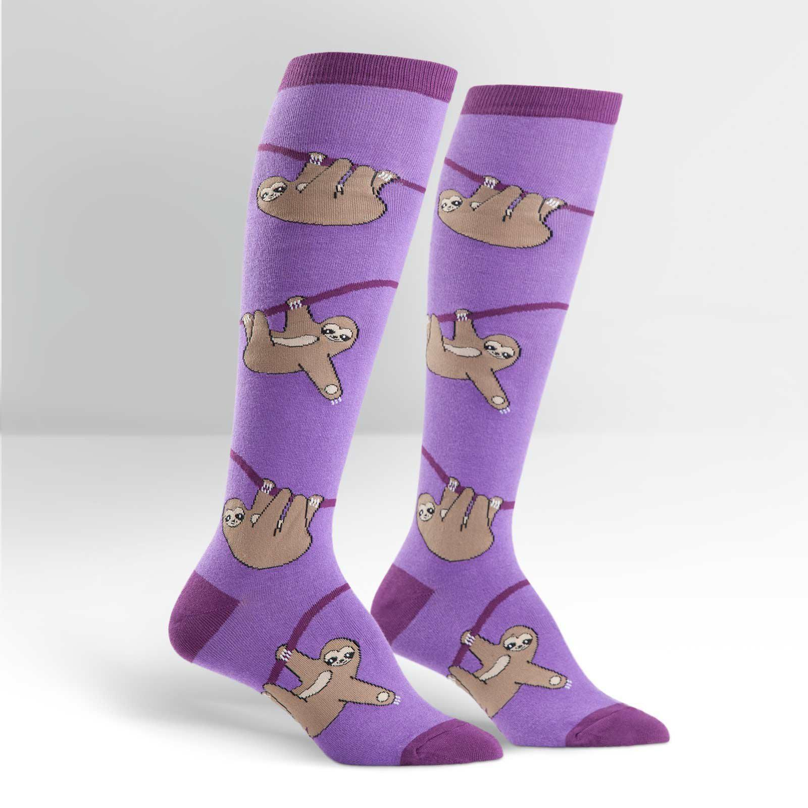 Sock It To Me - Sloth Knee High Socks | Women's - Knock Your Socks Off