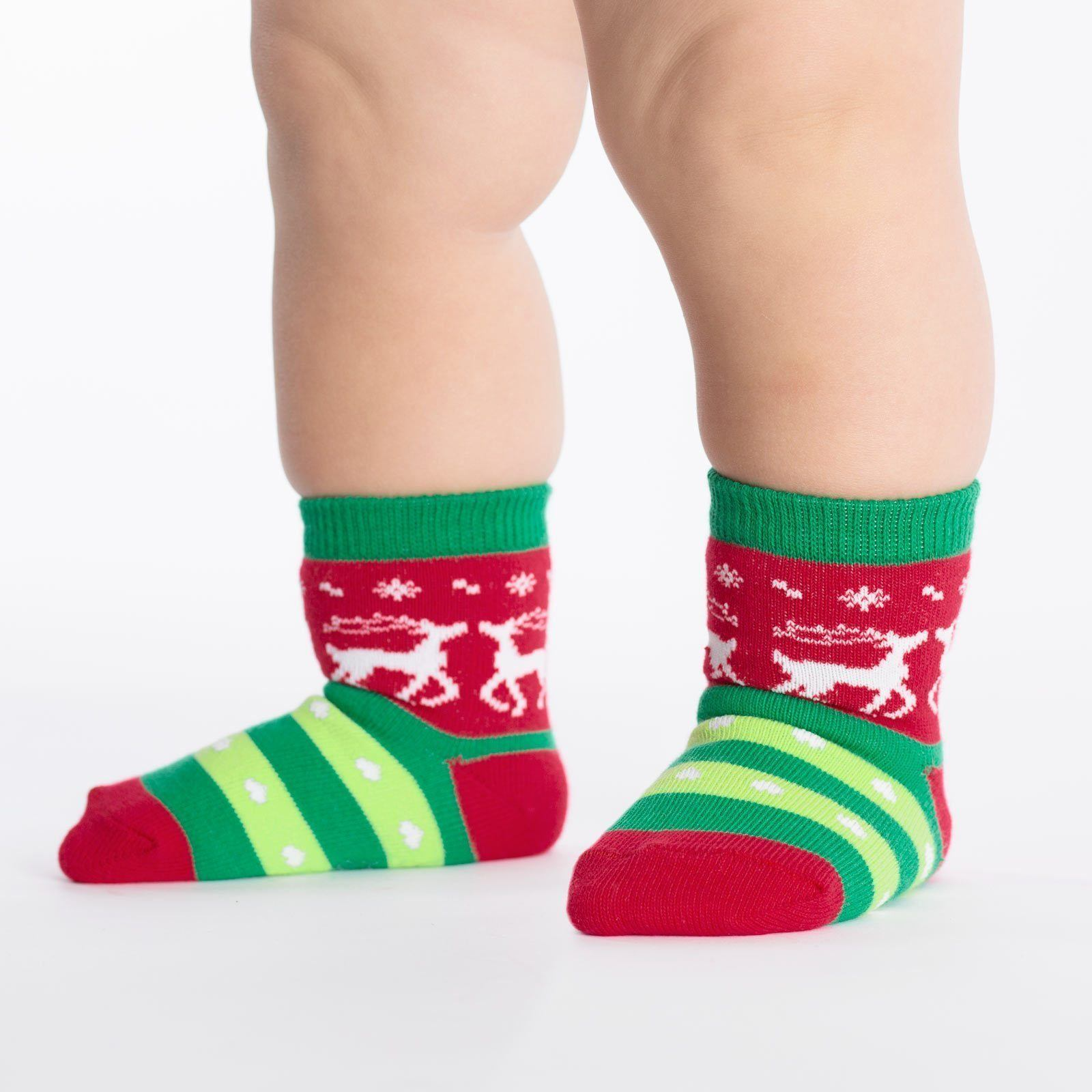 Sock It To Me - Toddler Tacky Holiday Sweater Crew Socks | Kids' - Knock Your Socks Off