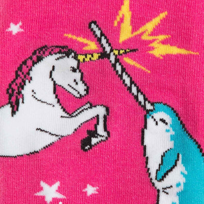 Sock It To Me - Unicorn vs. Narwhal Knee High Socks | Women's - Knock Your Socks Off