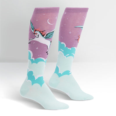Sock It To Me - Winged Warrior Knee High Socks | Women's - Knock Your Socks Off