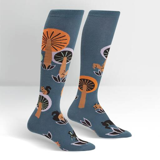 "Sock It To Me - ""Woodland Wonderland"" Mushroom Knee High Socks 