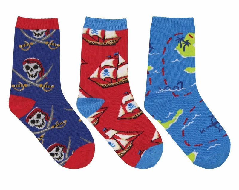 Socksmith - A Pirate's Life 3-pack Crew Socks | Kids' - Knock Your Socks Off