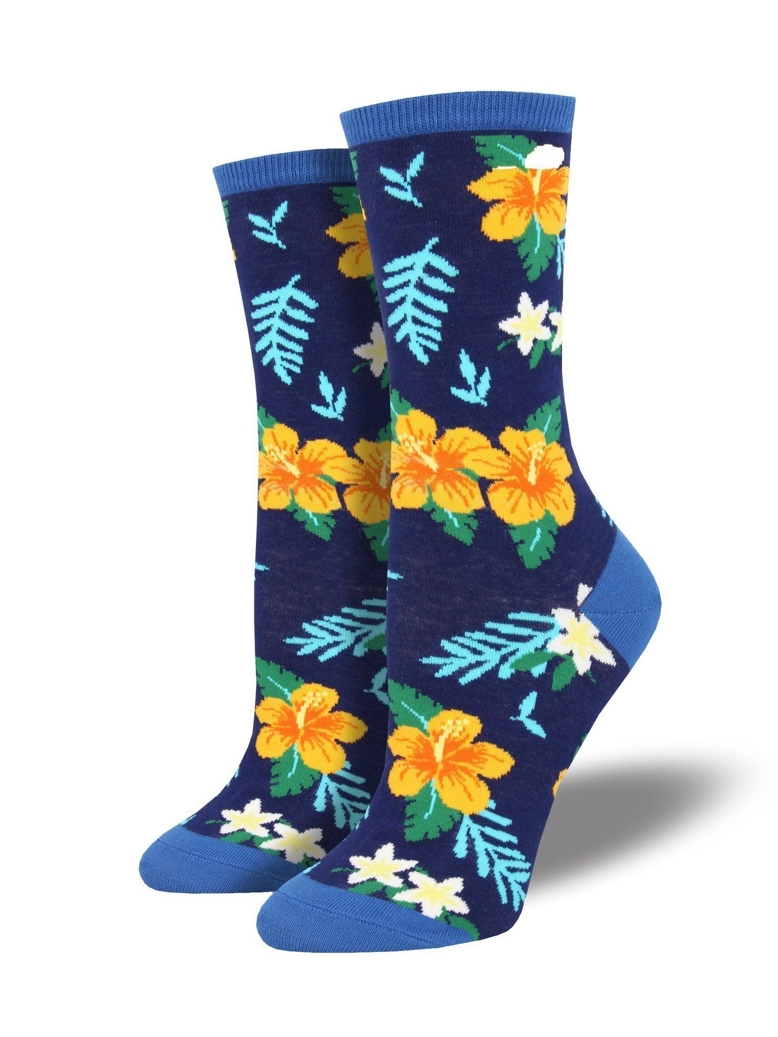 Socksmith - Aloha Floral Crew Socks | Women's - Knock Your Socks Off