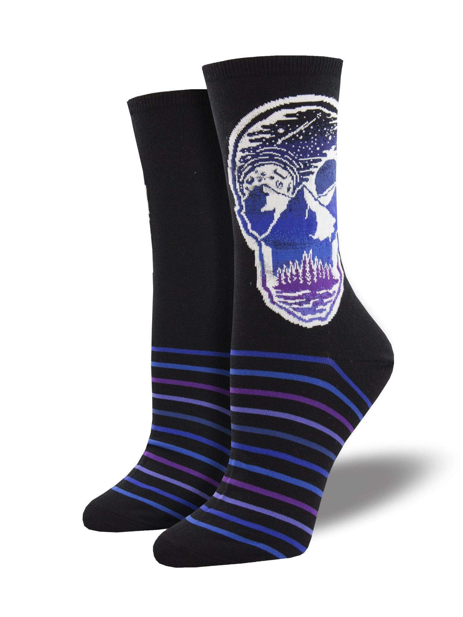 Socksmith - Atomicchild Majestic Skull Crew Socks | Women's - Knock Your Socks Off