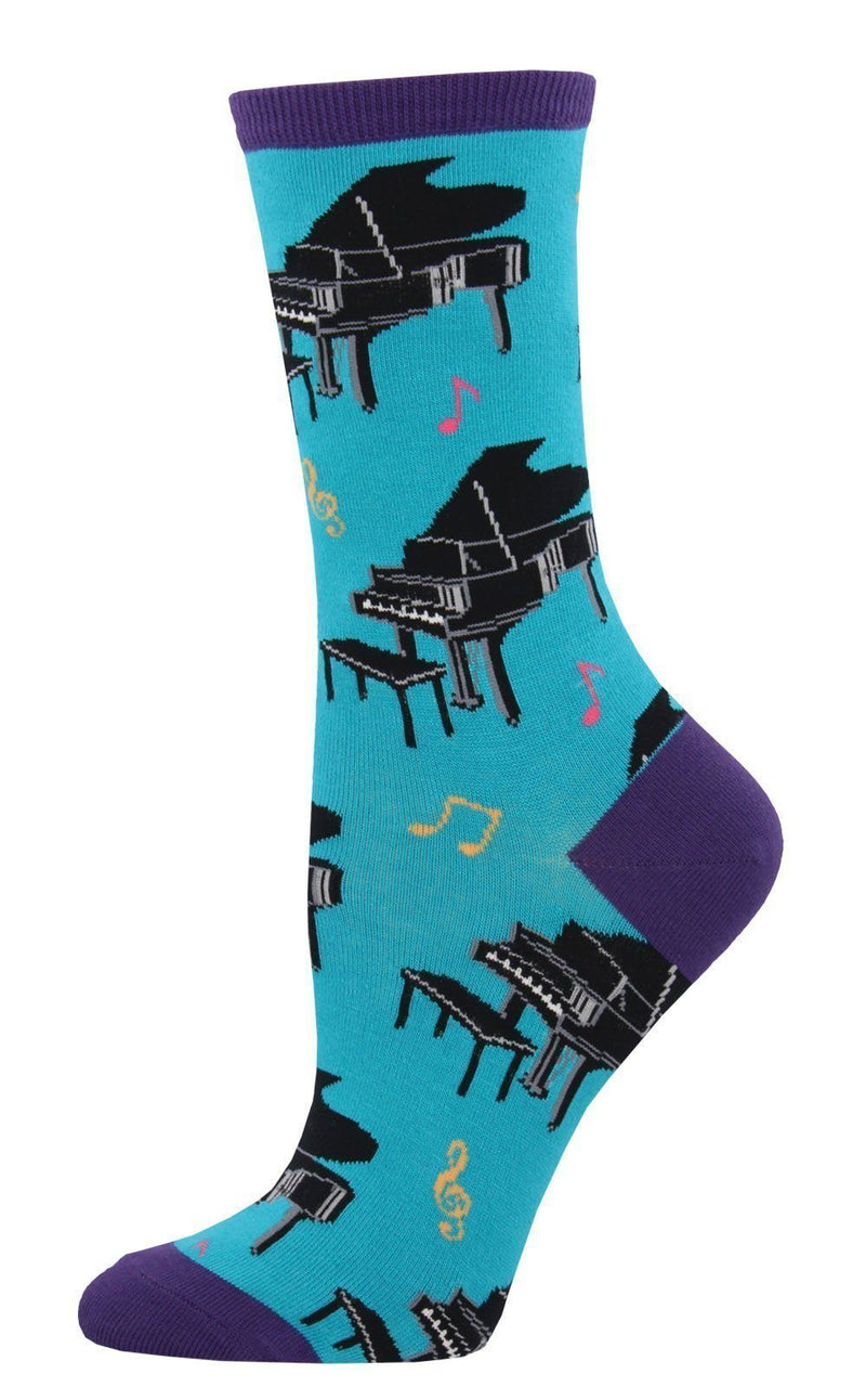 Socksmith - Baby Grand Piano Crew Socks | Women's - Knock Your Socks Off