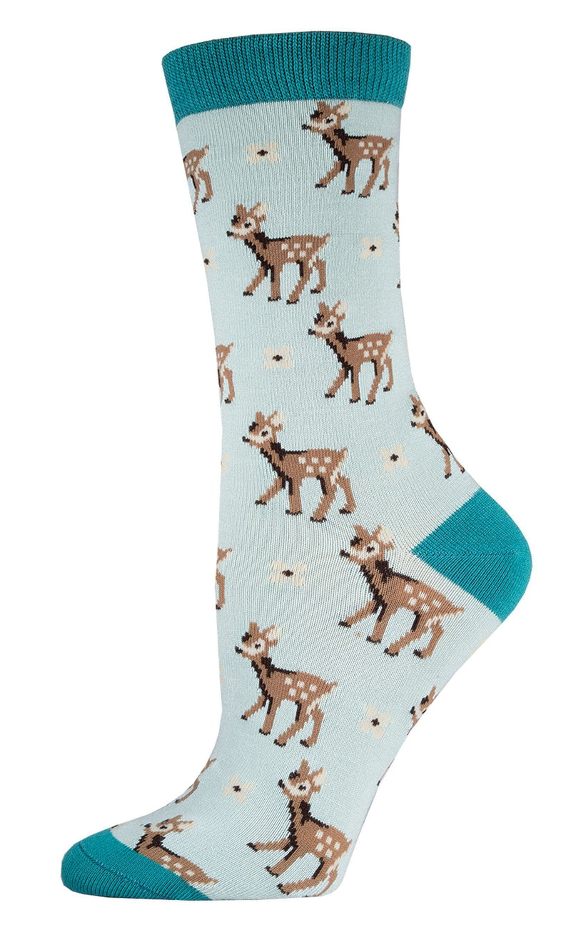 Socksmith - Bamboo Be A Deer Crew Socks | Women's - Knock Your Socks Off