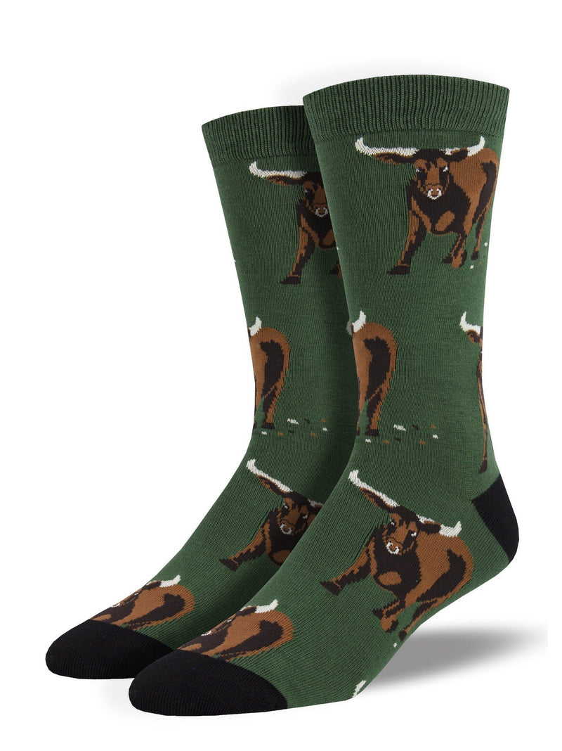 Socksmith - Bamboo Bull Crew Socks | Men's - Knock Your Socks Off