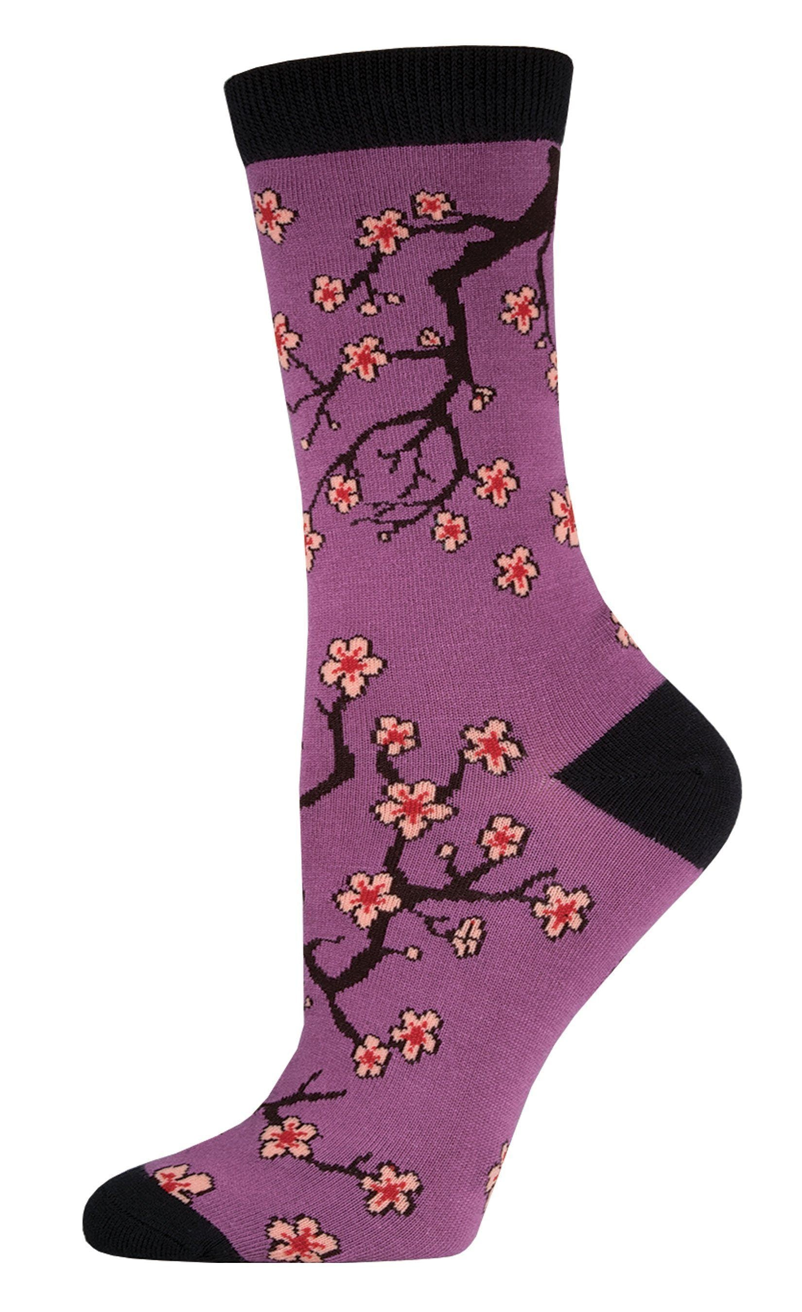 Socksmith - Bamboo Cherry Blossoms Crew Socks | Women's - Knock Your Socks Off