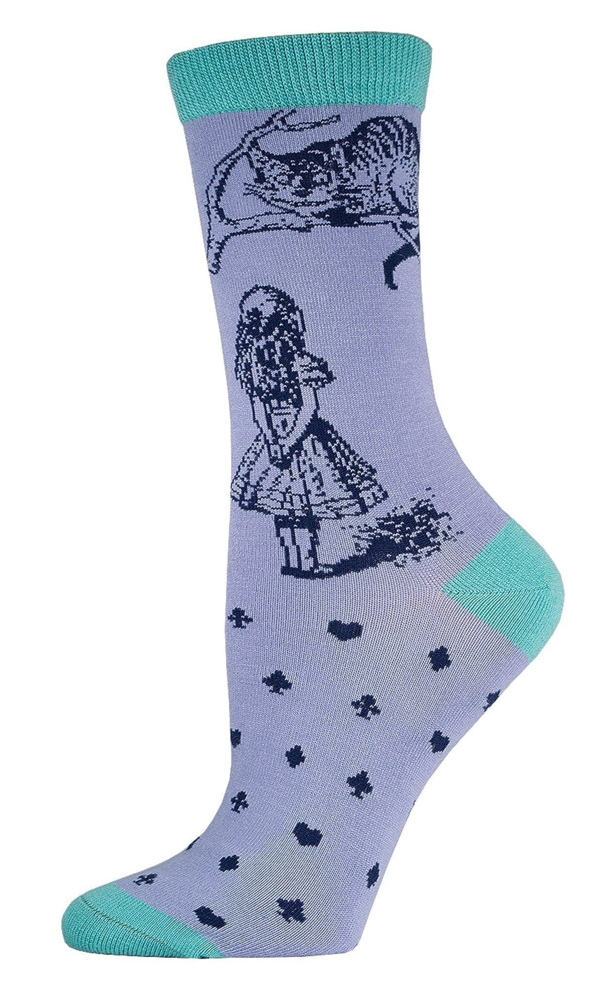 Socksmith - Bamboo Cheshire Cat Crew Socks | Women's - Knock Your Socks Off