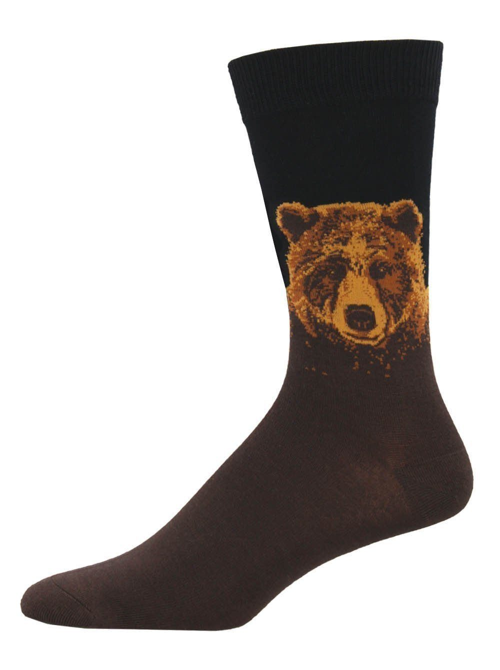 Socksmith - Bamboo Grizzly Crew Socks | Men's - Knock Your Socks Off