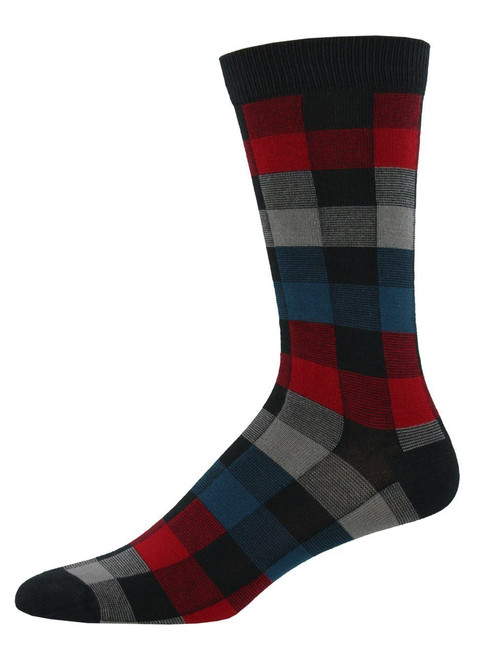 Socksmith - Bamboo Plaid Crew Socks | Men's - Knock Your Socks Off