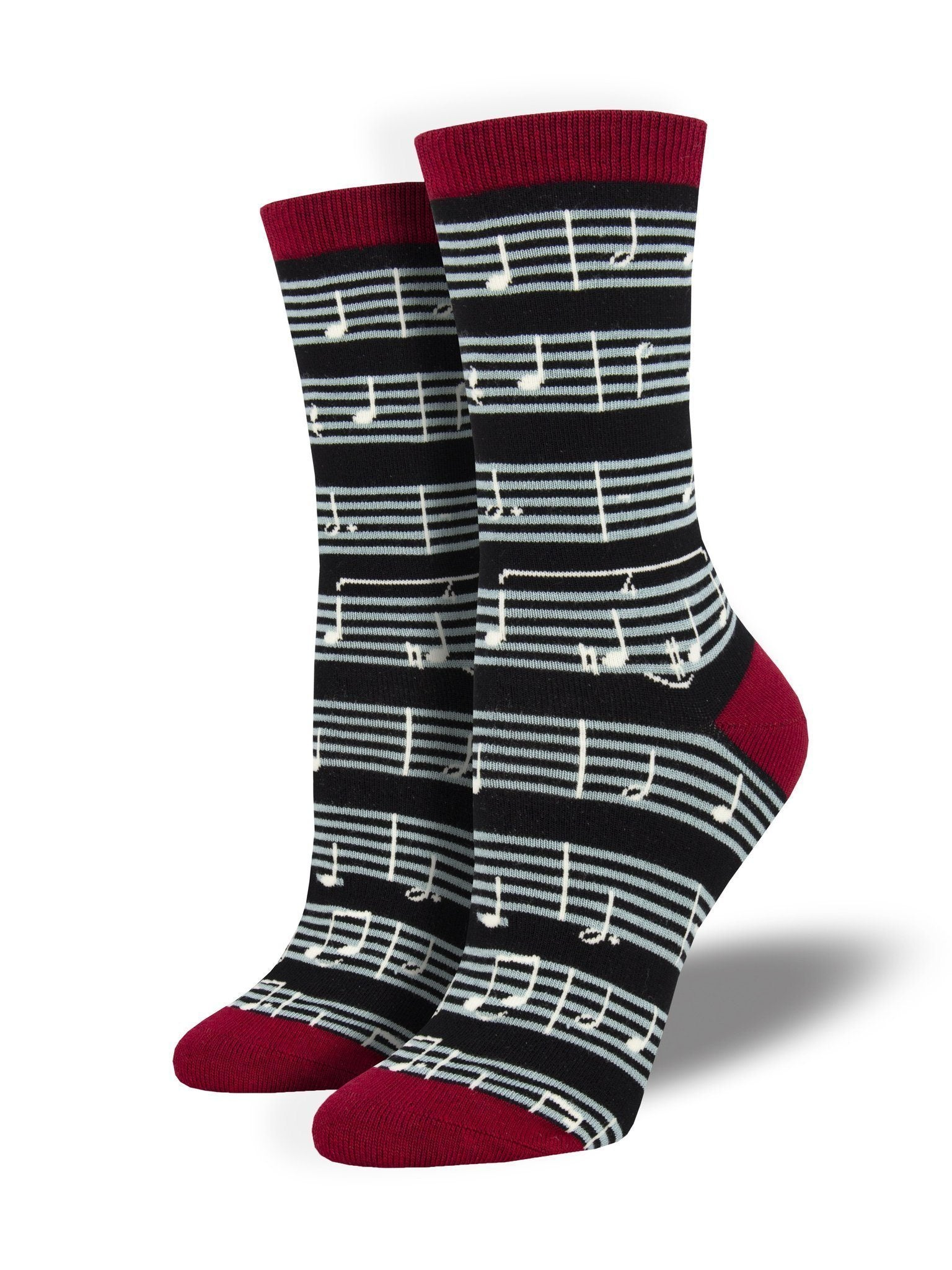 Socksmith - Bamboo Sheet Music Crew Socks | Women's - Knock Your Socks Off
