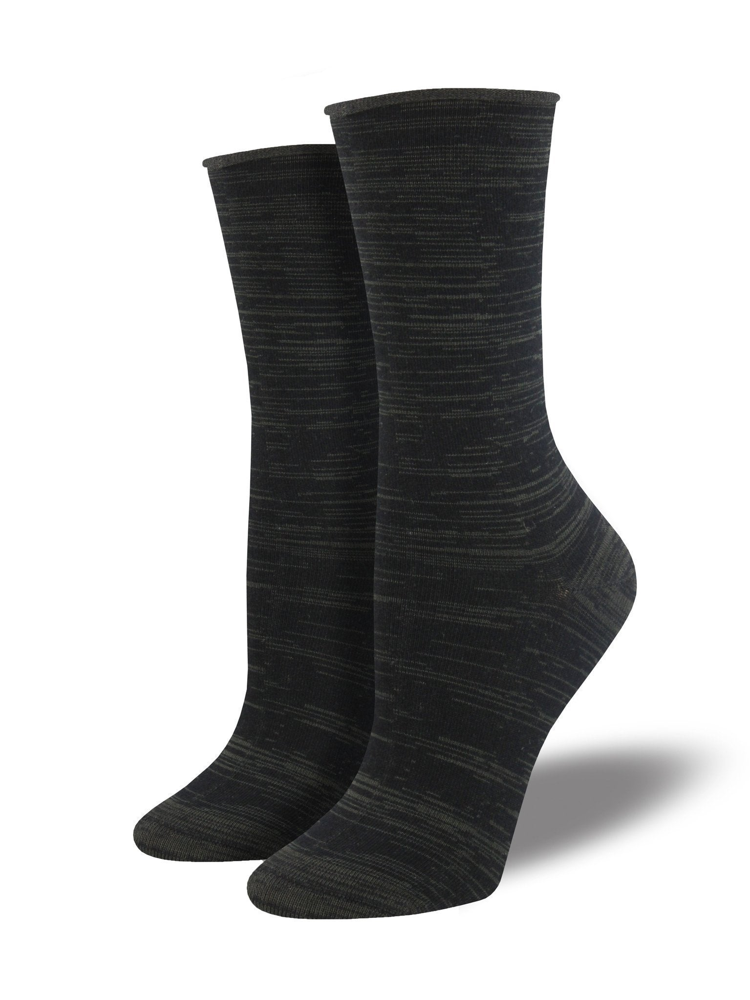 Socksmith - Bamboo Space Dye Roll Top Crew Socks | Women's - Knock Your Socks Off
