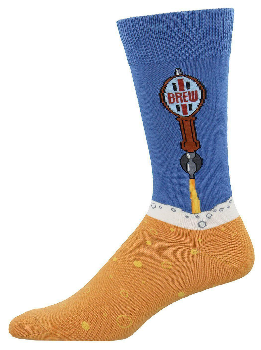 Socksmith - Beer Taps Crew Socks | Men's - Knock Your Socks Off