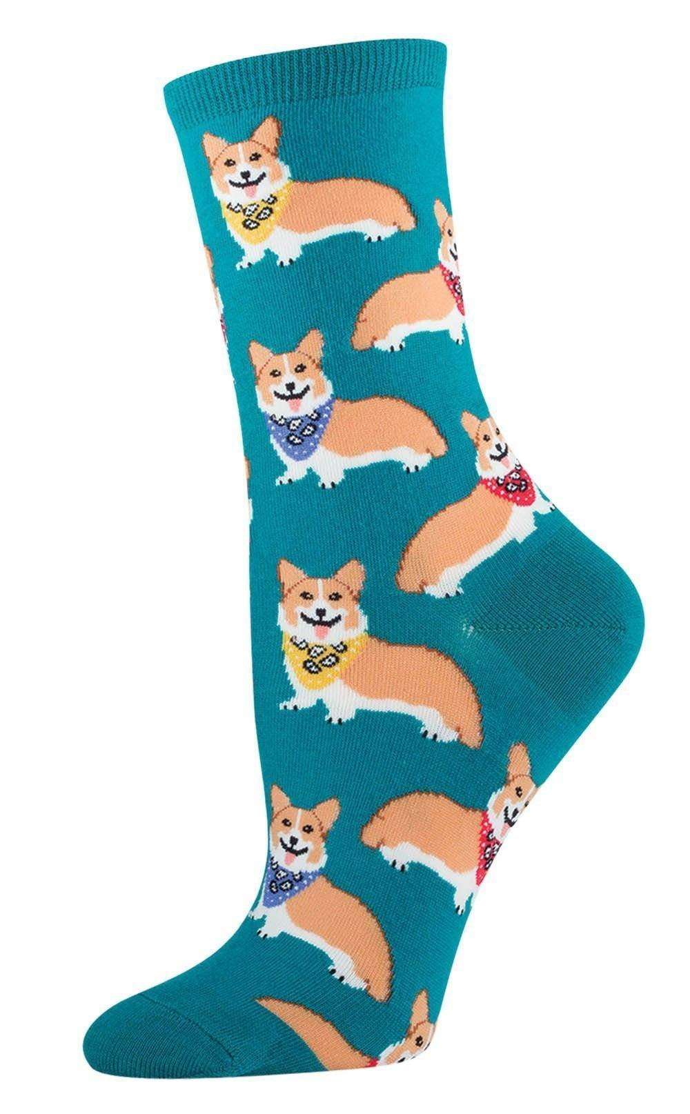 Socksmith - Corgi Crew Socks | Women's - Knock Your Socks Off