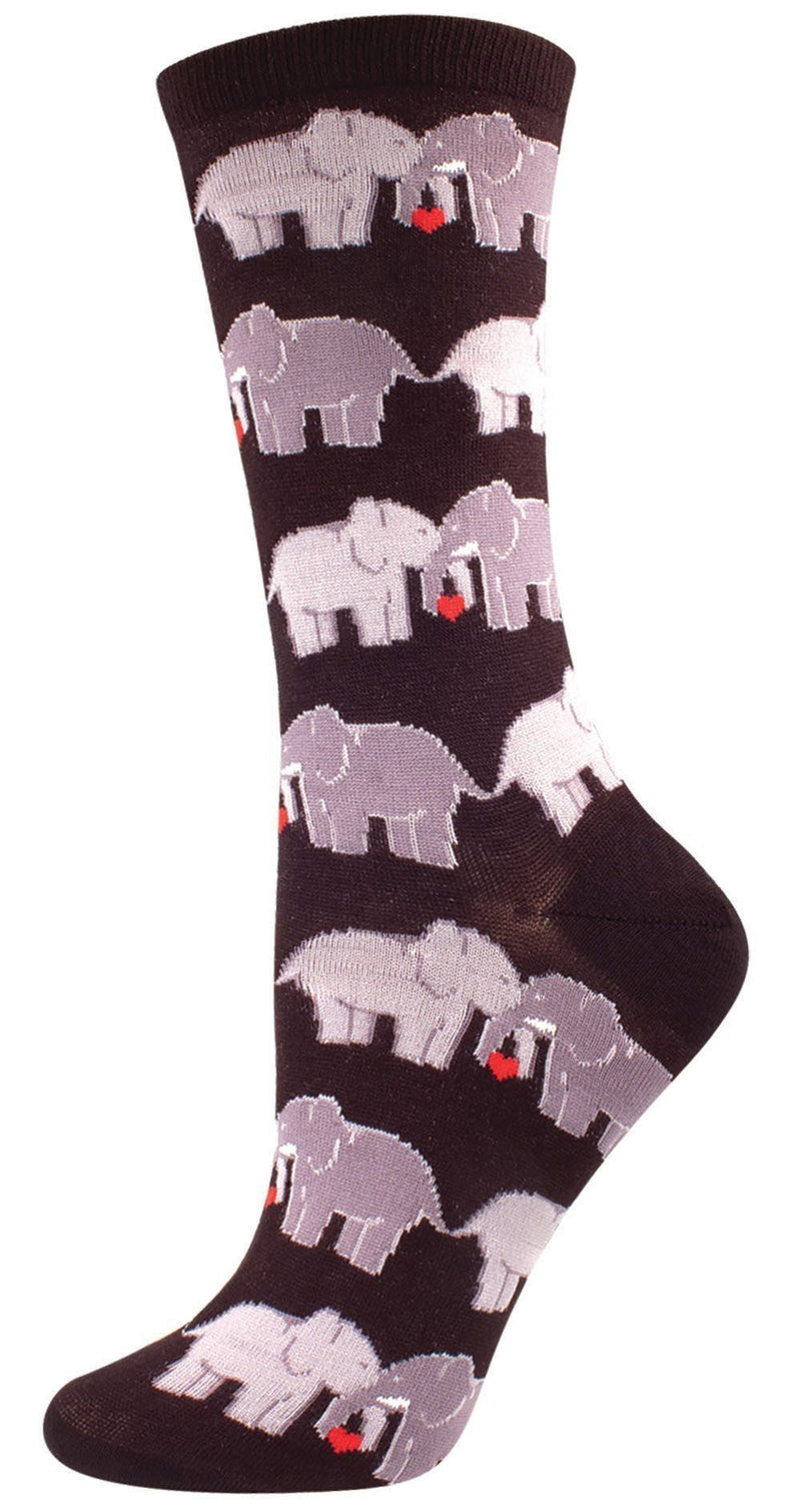 Socksmith - Elephant Love Crew Socks | Women's - Knock Your Socks Off