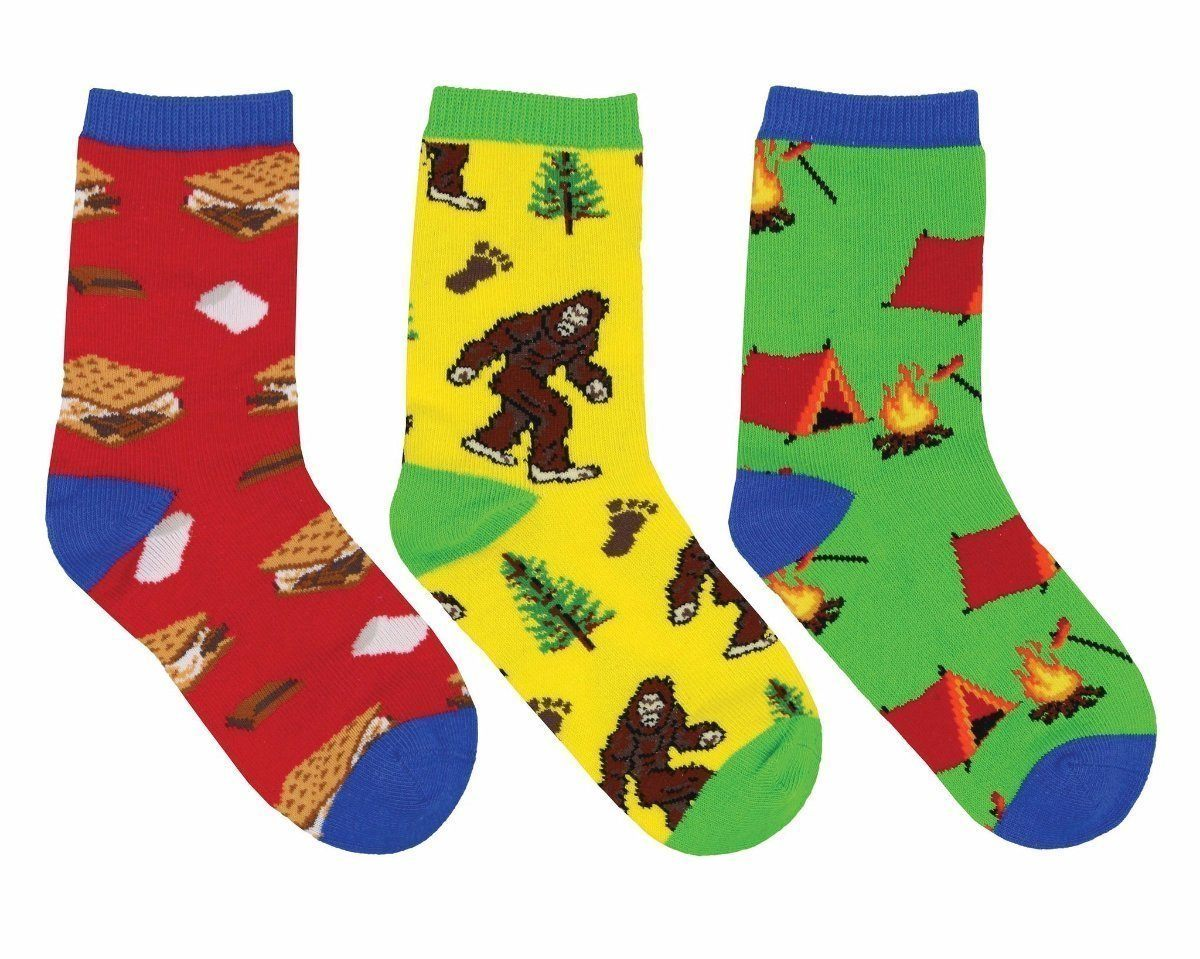 Socksmith - Gone Camping 3-pack Crew Socks | Kids' - Knock Your Socks Off