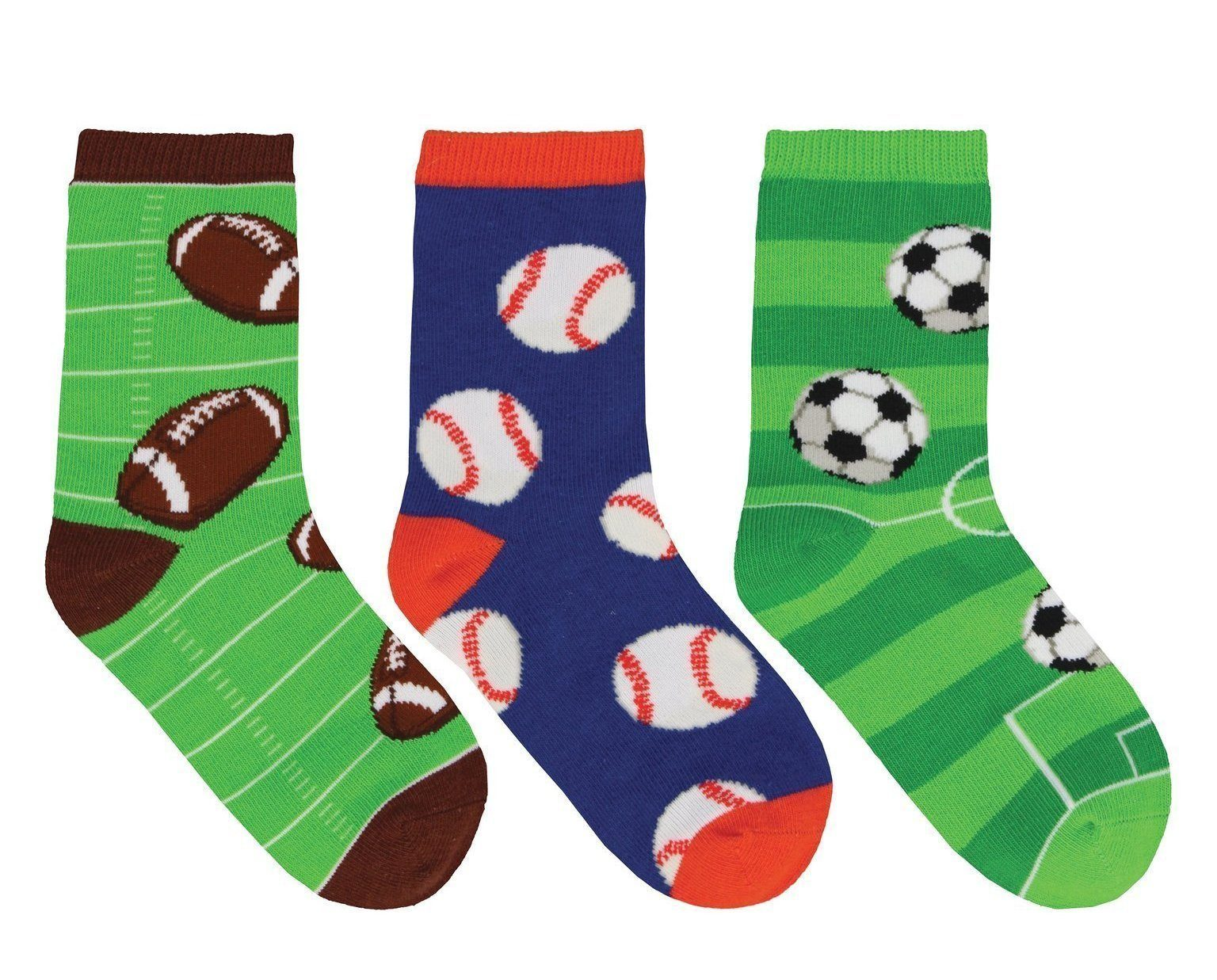 Socksmith - Good Sport 3-pack Crew Socks | Kids' - Knock Your Socks Off
