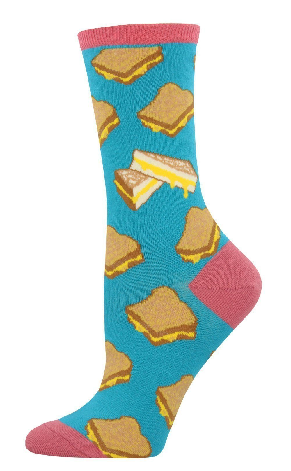 Socksmith - Grilled Cheese Crew Socks | Women's - Knock Your Socks Off