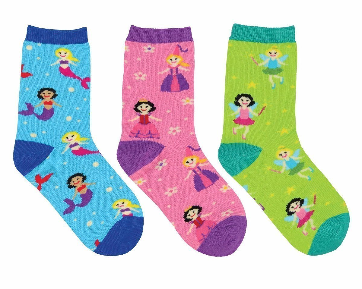 Socksmith - Happily Ever After 3-pack Crew Socks | Kids' - Knock Your Socks Off