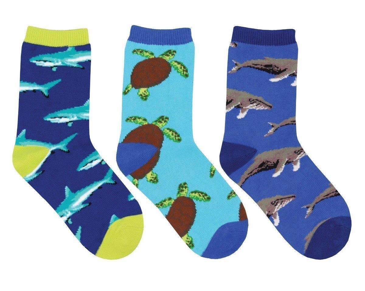 Socksmith - Little Swimmers 3-pack Crew Socks | Kids' - Knock Your Socks Off