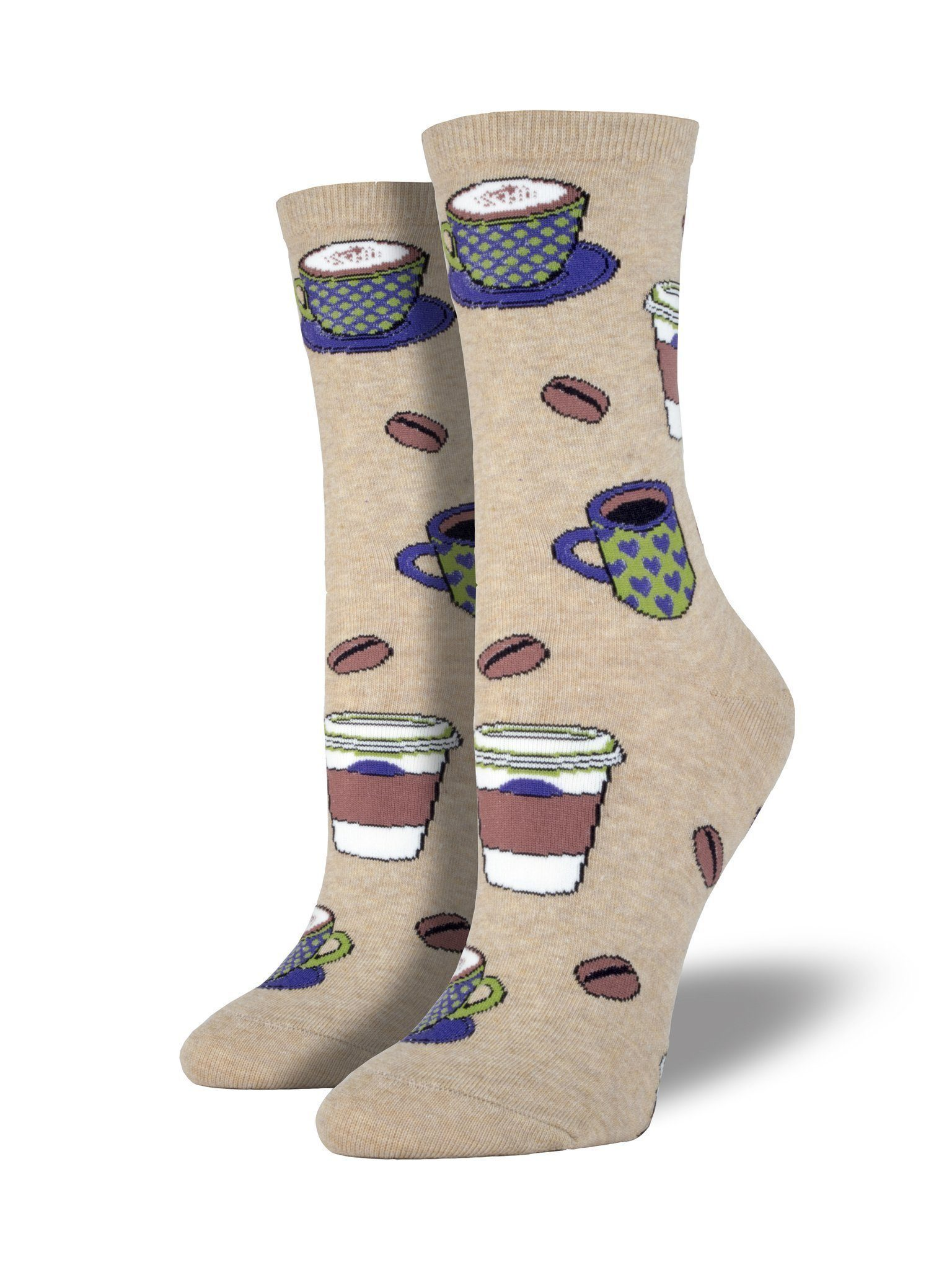 Socksmith - Love You a Latte Crew Socks | Women's - Knock Your Socks Off
