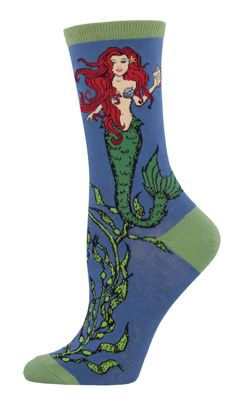 Socksmith - Mermaid Crew Socks | Women's - Knock Your Socks Off