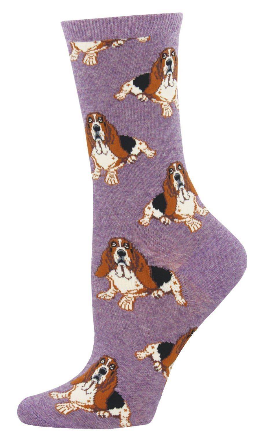 Socksmith - Nothing But A Hound Dog Crew Socks | Women's - Knock Your Socks Off