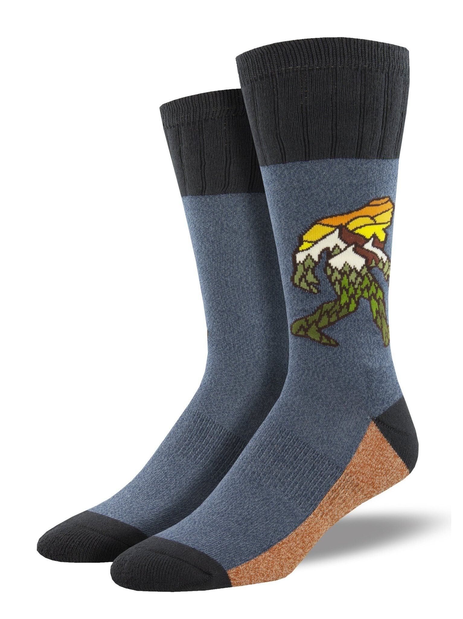 Socksmith - Outlands Leave No Trace Bigfoot Boot Socks | Men's - Knock Your Socks Off