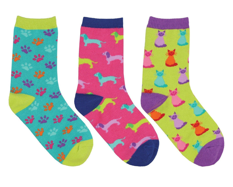 Socksmith - Paws and Claws 3-pack Crew Socks | Kids' - Knock Your Socks Off