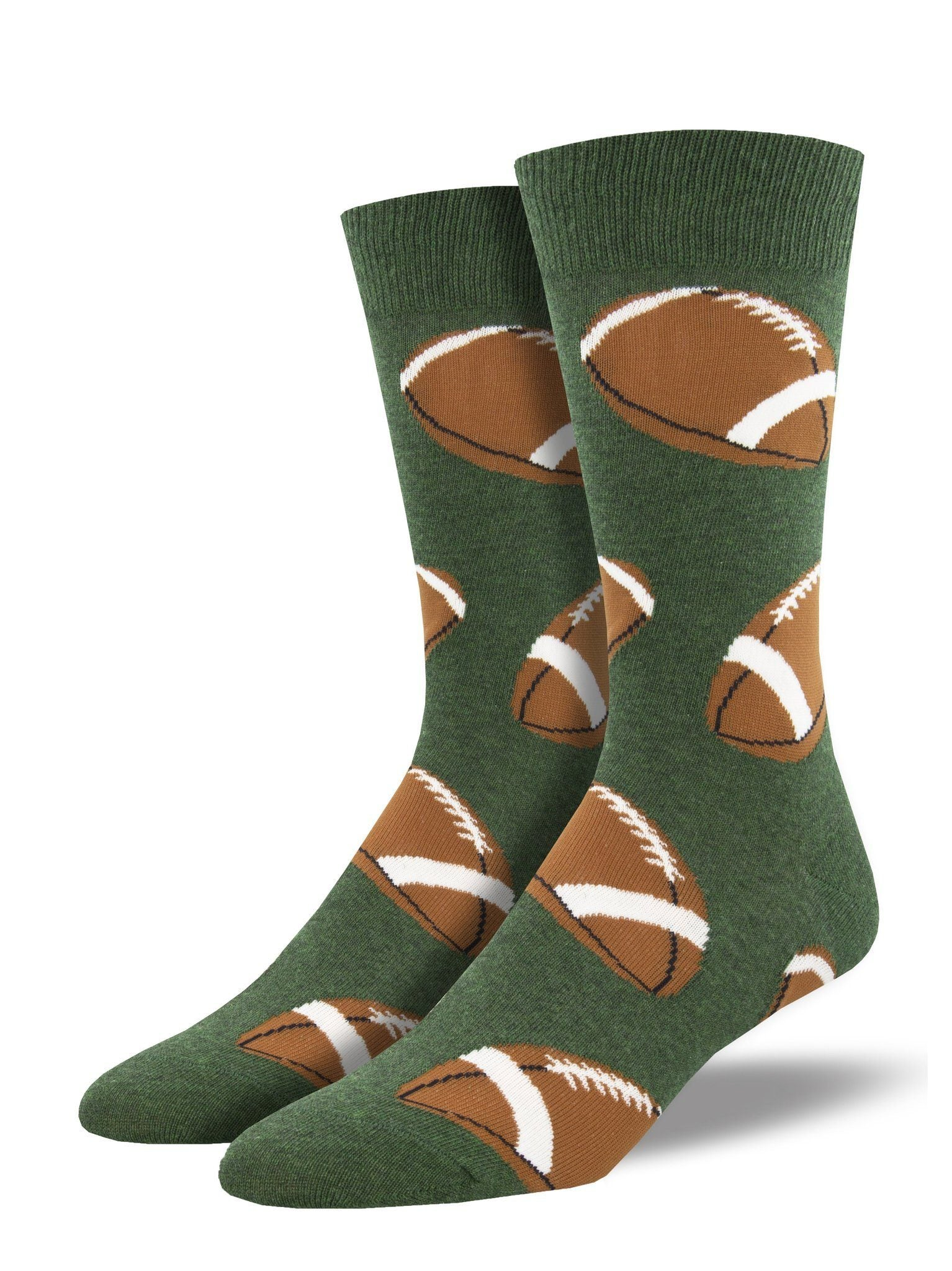 Socksmith - Pigskin Football Crew Socks | Men's - Knock Your Socks Off