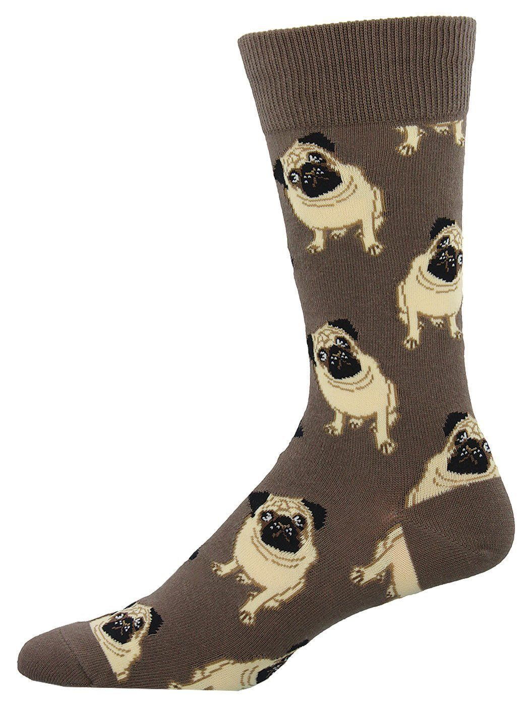 Socksmith - Pugs Crew Socks | Men's - Knock Your Socks Off