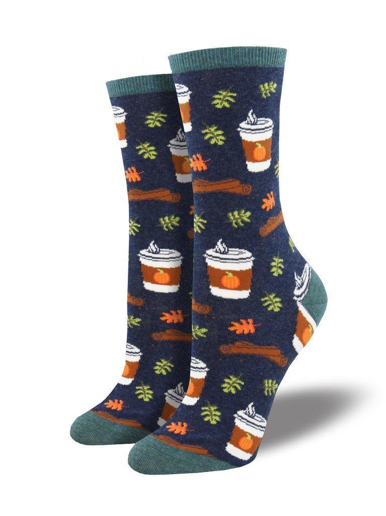 Socksmith - Pumpkin Spice Up Your Life Crew Socks | Women's - Knock Your Socks Off