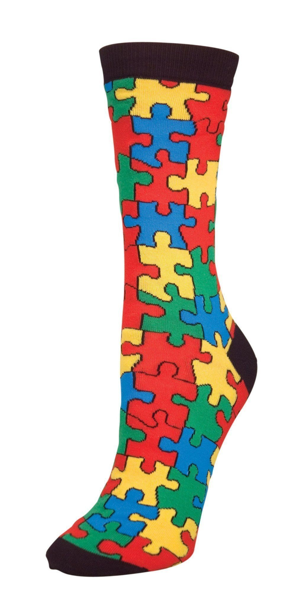 Socksmith - Puzzled Crew Socks | Women's - Knock Your Socks Off