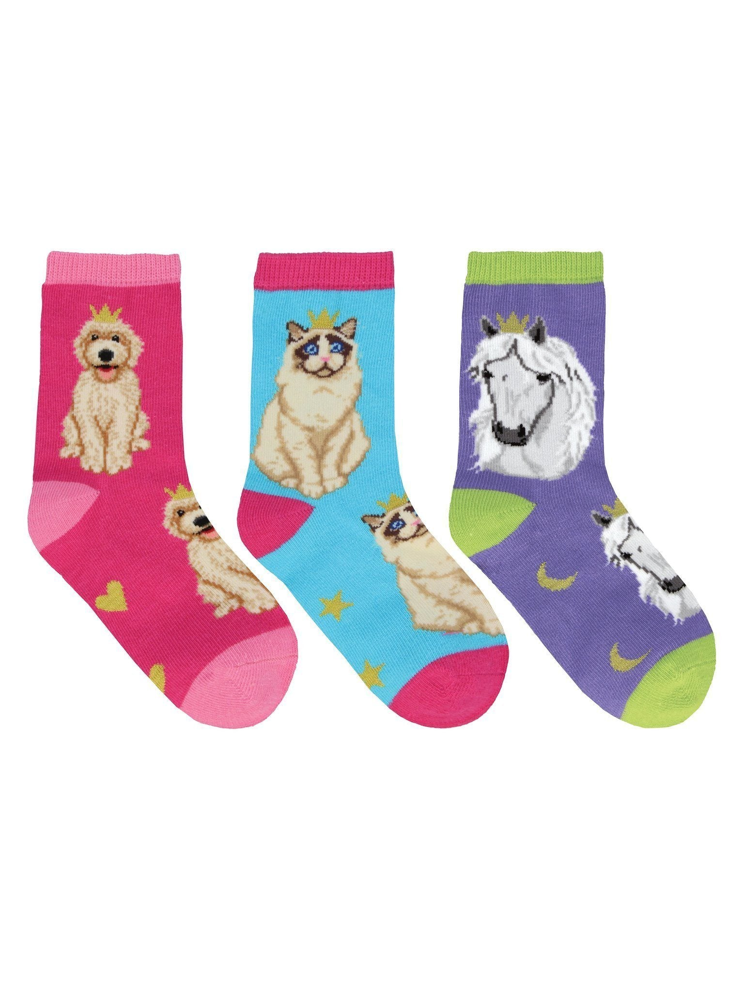 Socksmith - Reigning Cats & Dogs Crew Socks | Kids' - Knock Your Socks Off