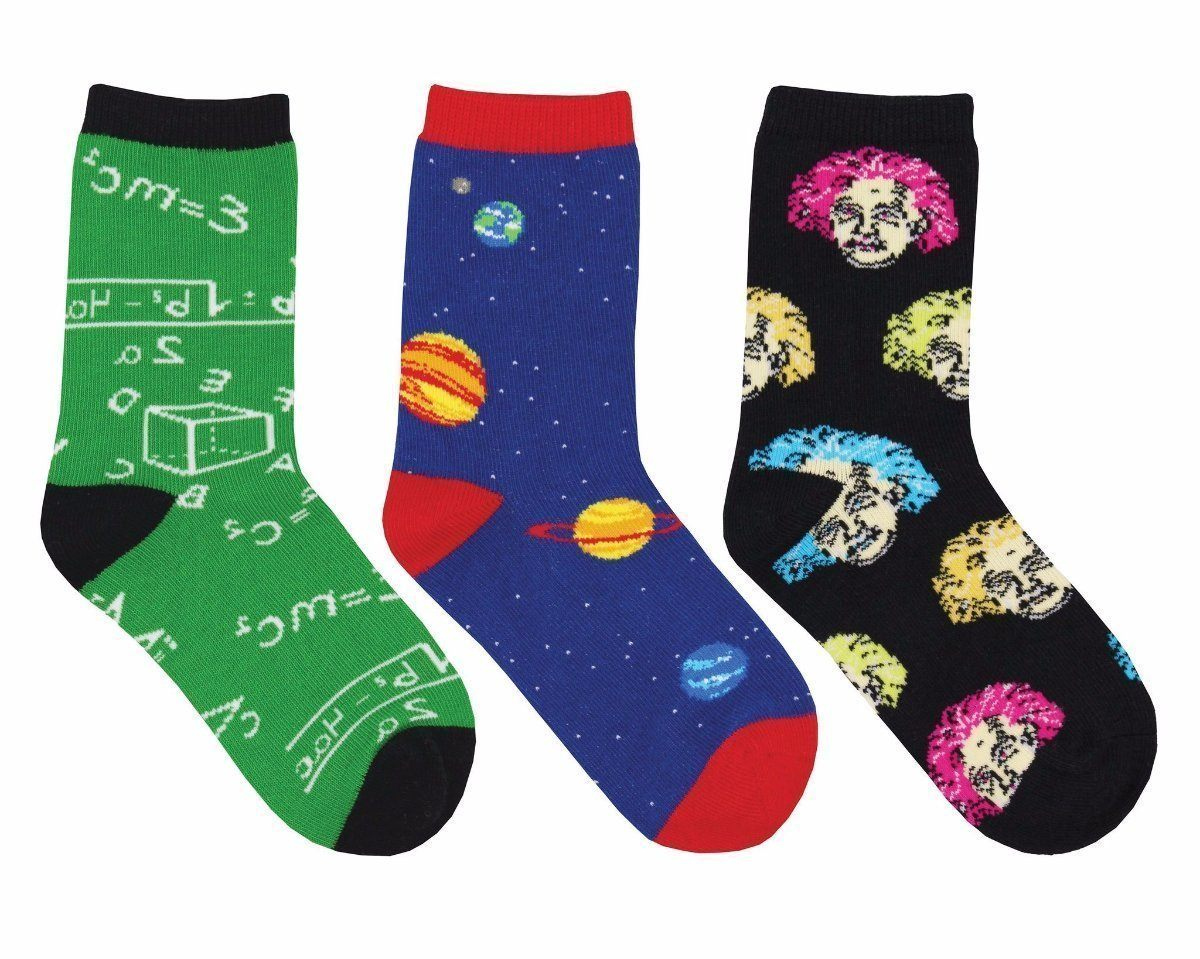 Socksmith - Relatively Awesome 3-pack Crew Socks | Kids' - Knock Your Socks Off