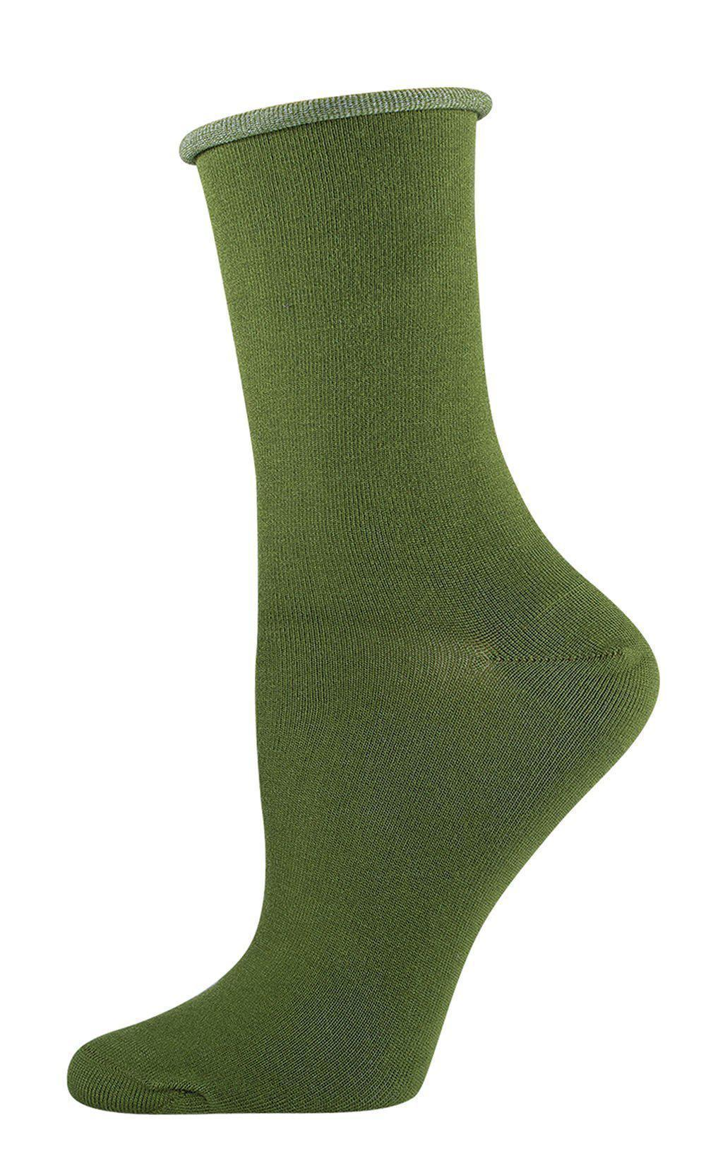Socksmith - Roll Top Bamboo Crew Socks | Women's - Knock Your Socks Off