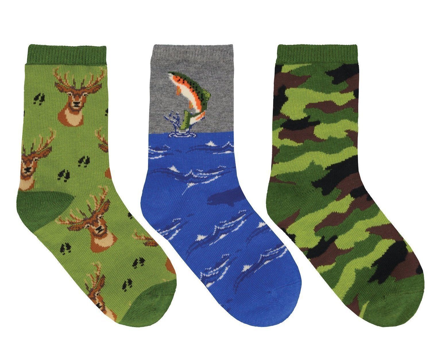 Socksmith - The Great Outdoors 3-pack Crew Socks | Kids' - Knock Your Socks Off