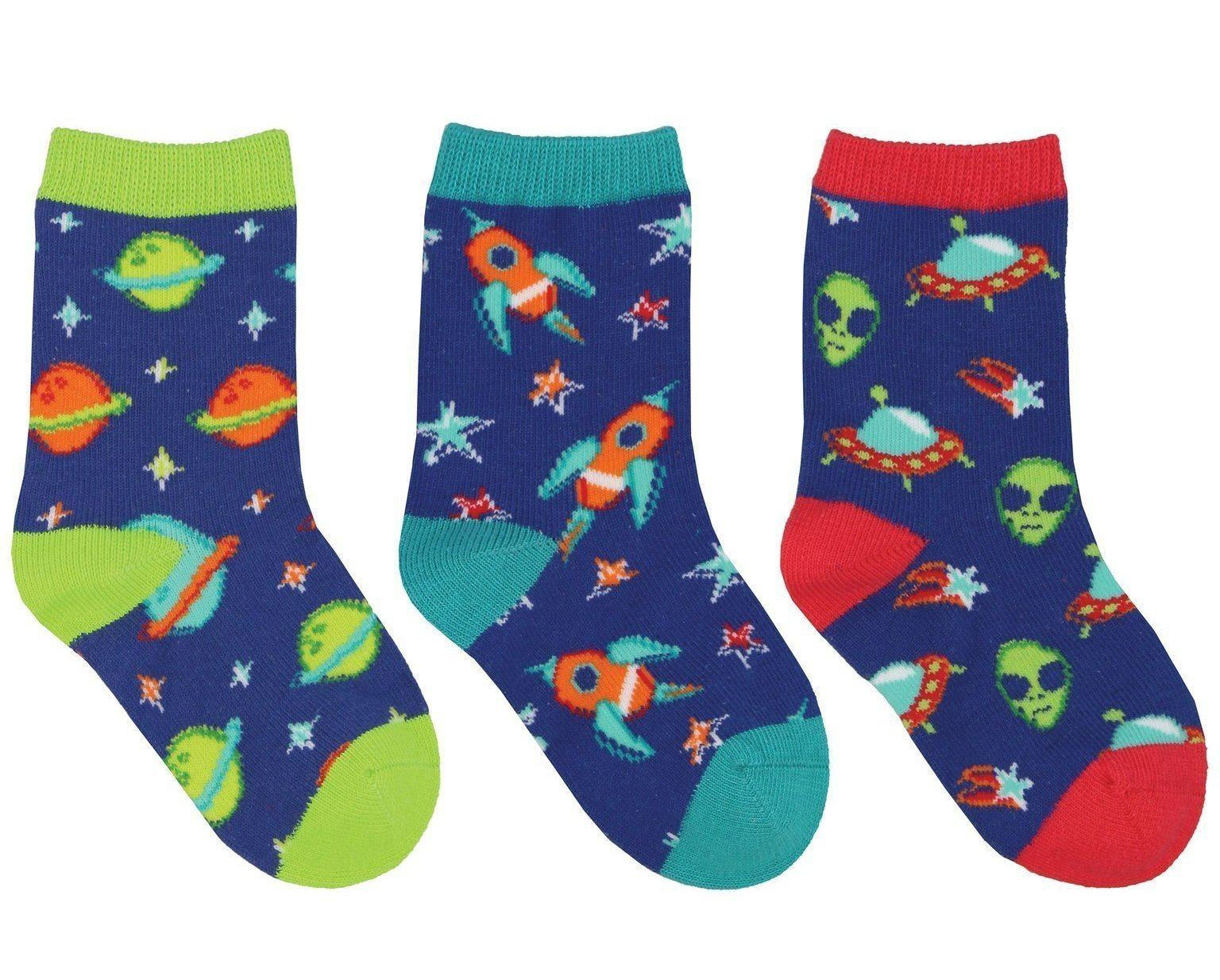 Socksmith - To the Moon 3-pack Crew Socks | Kids' - Knock Your Socks Off