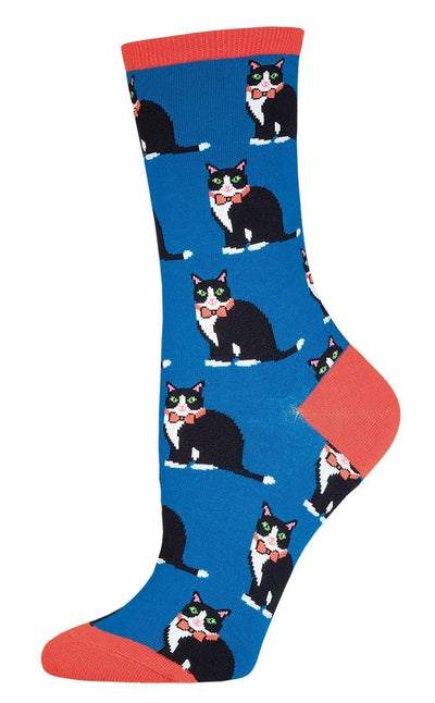 Socksmith - Tuxedo Cats Crew Socks | Women's - Knock Your Socks Off