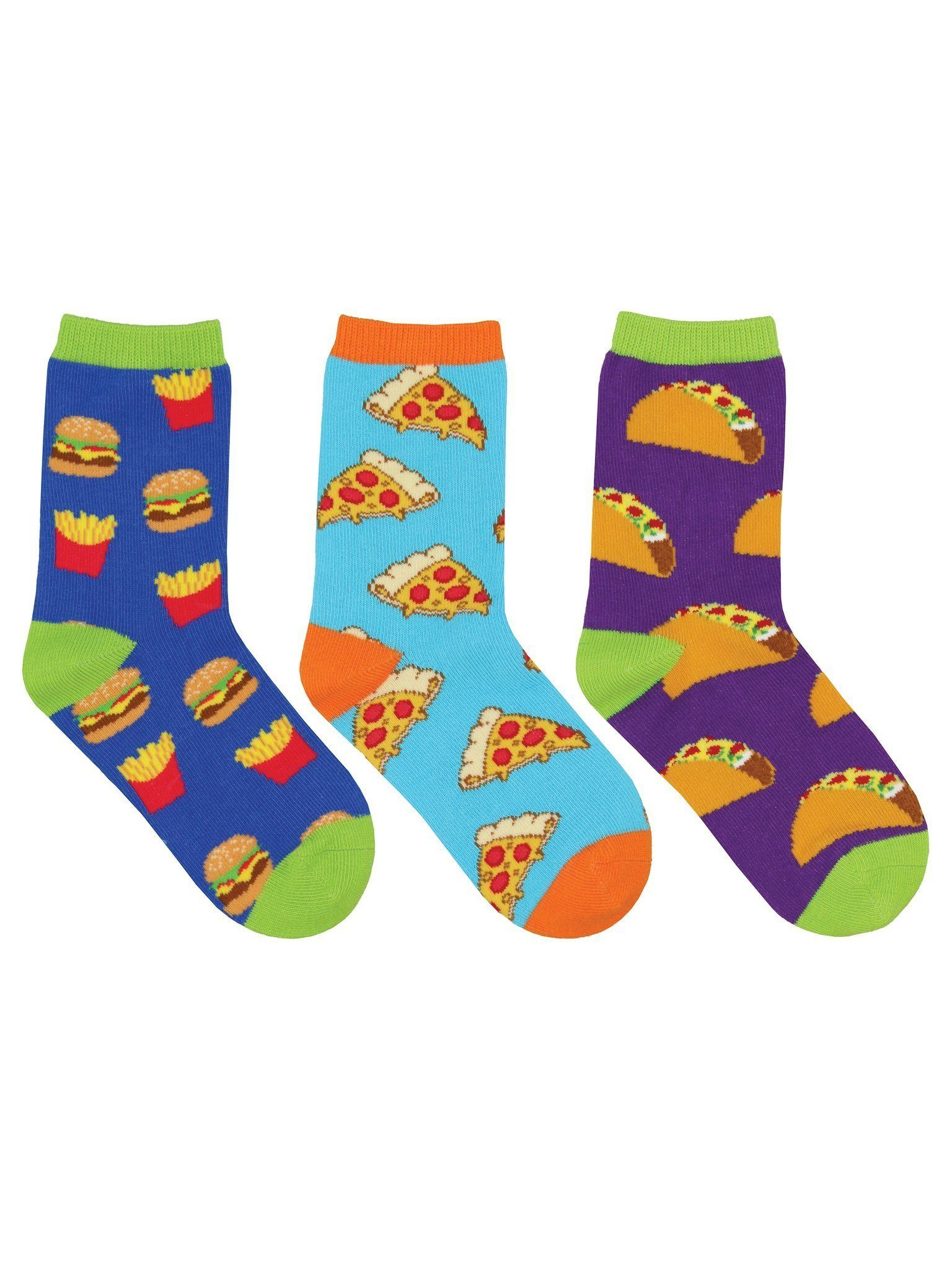 Socksmith - Yummy in My Tummy 3-pack Crew Socks | Kids' - Knock Your Socks Off