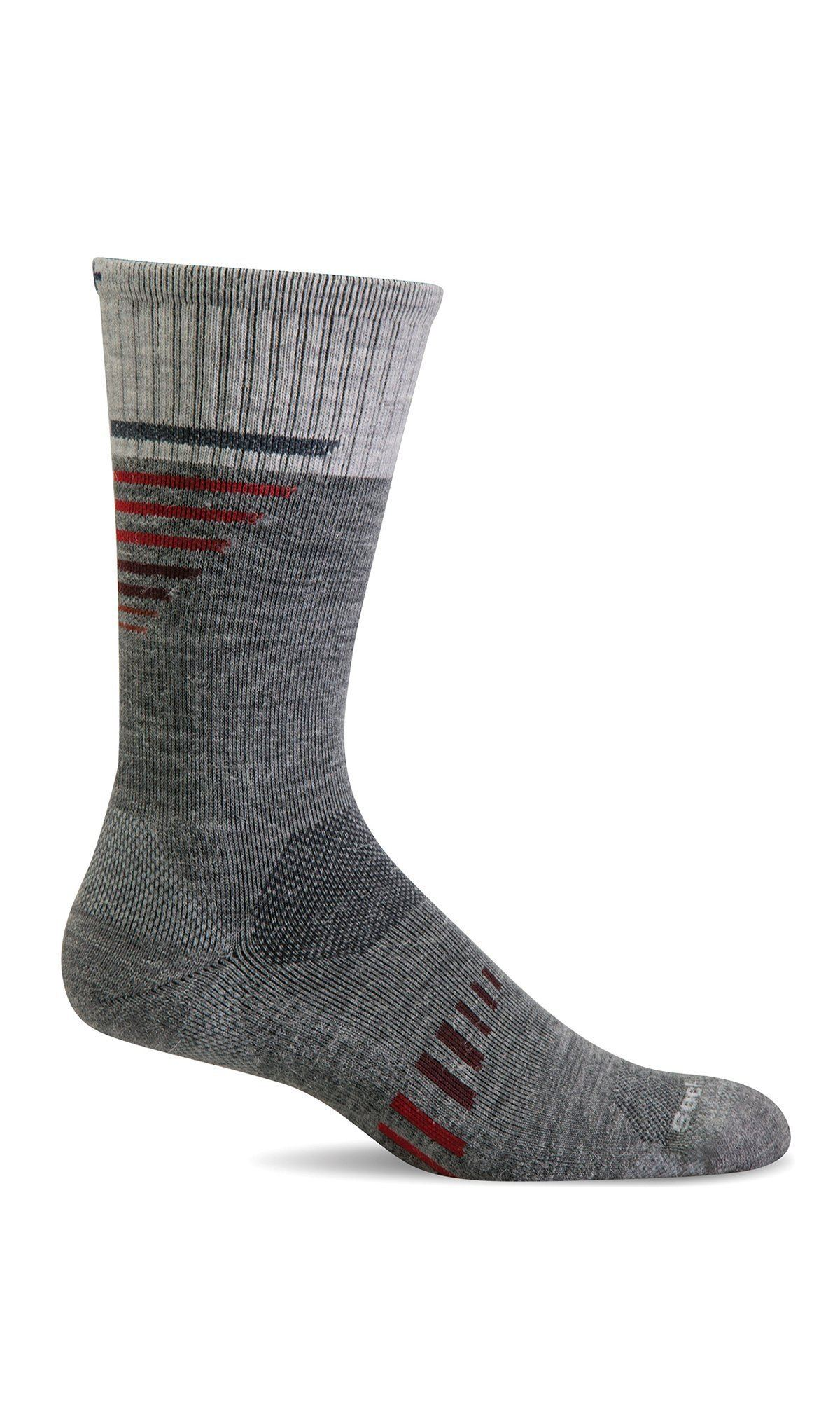 Sockwell - Ascend II Moderate Graduated Compression (15-20 mmHg) Crew Socks | Men's - Knock Your Socks Off