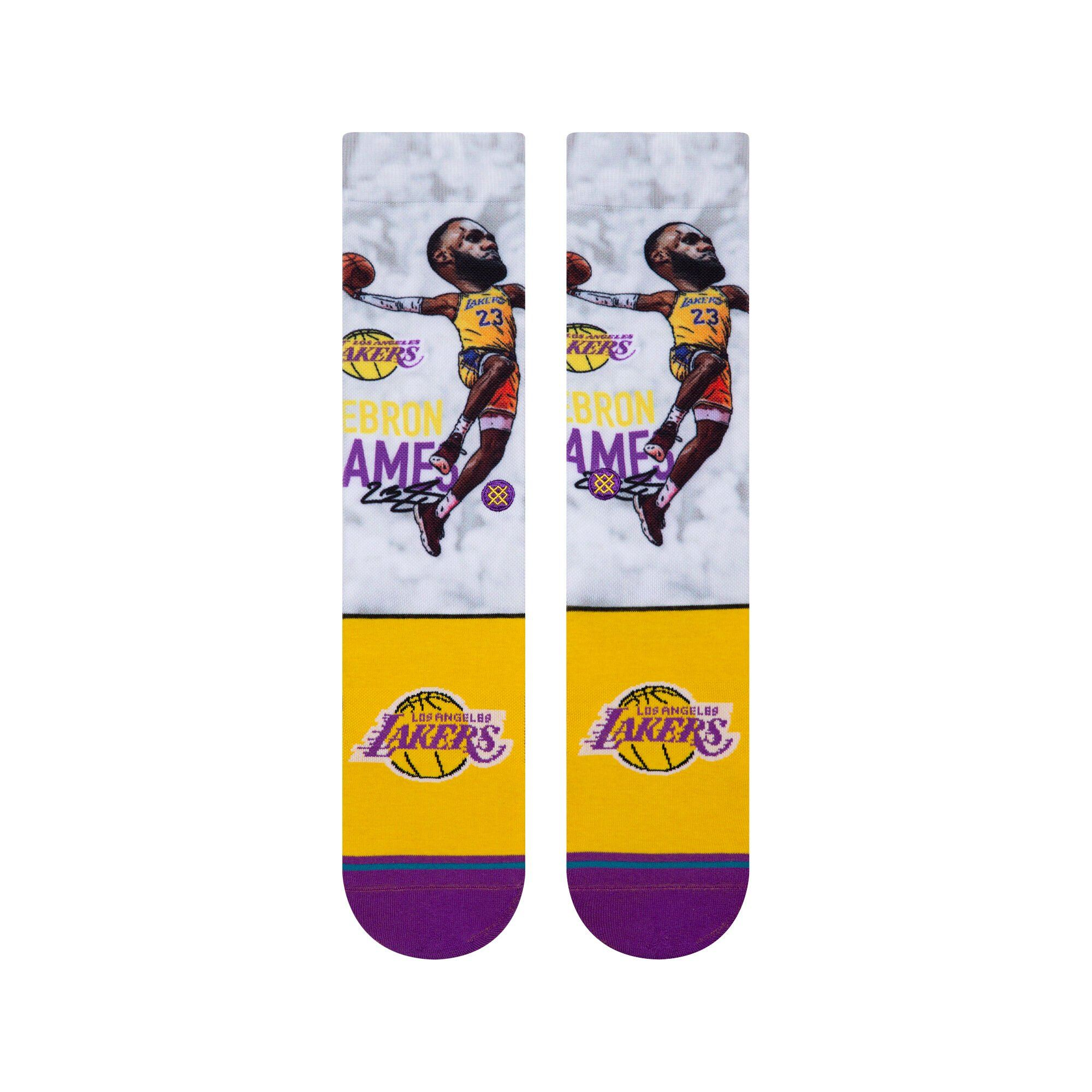Stance - Lakers: LBJ Big Head Crew Socks | Men's - Knock Your Socks Off