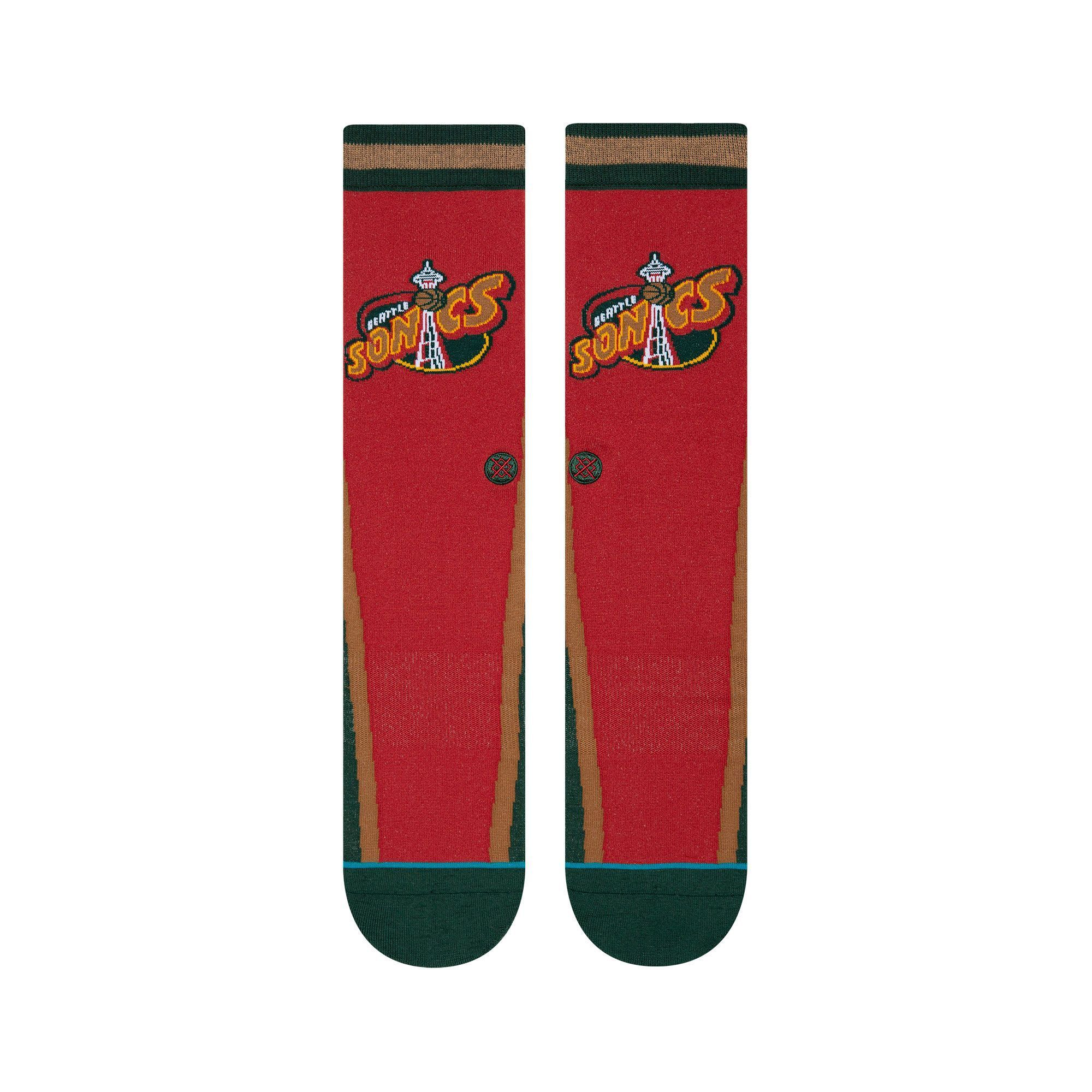 Stance - Seattle SuperSonics HWC Warmup Crew Socks | Men's - Knock Your Socks Off