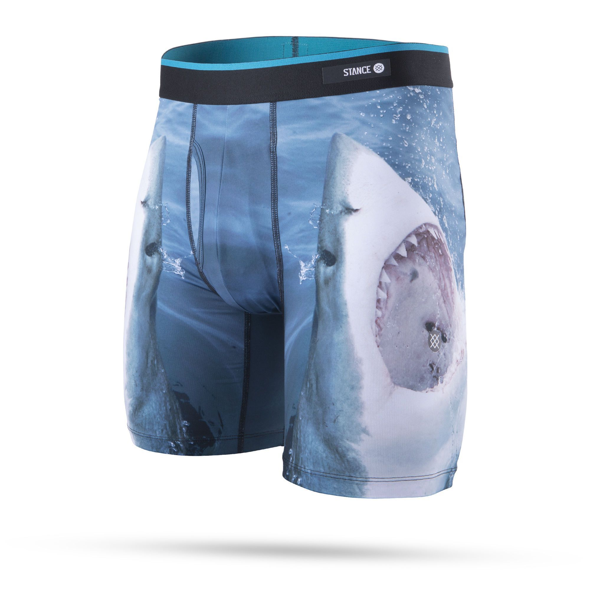 Stance - Shark Tooth Boxer Brief Underwear | Men's - Knock Your Socks Off