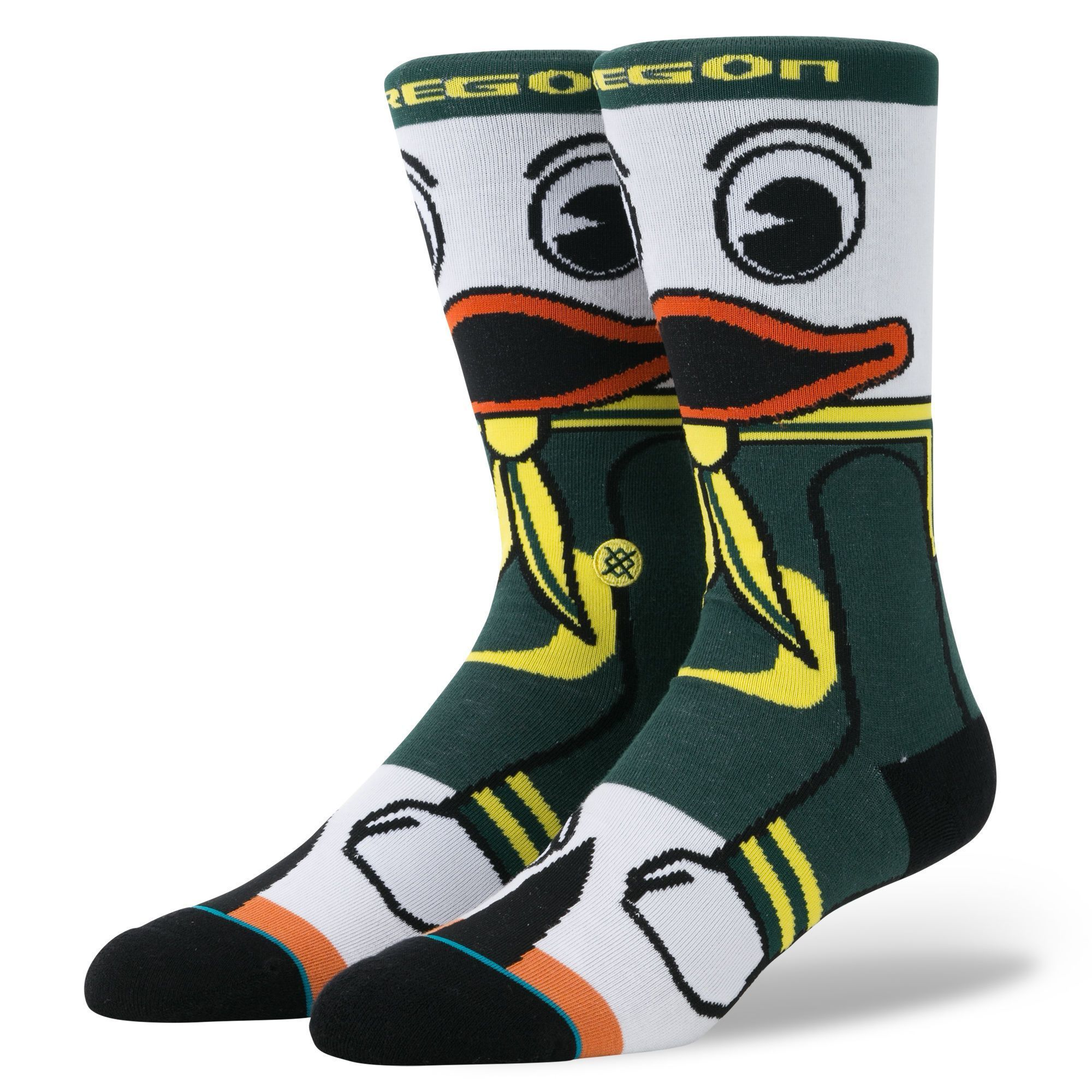 Stance - University of Oregon Fighting Duck Crew Socks | Men's - Knock Your Socks Off