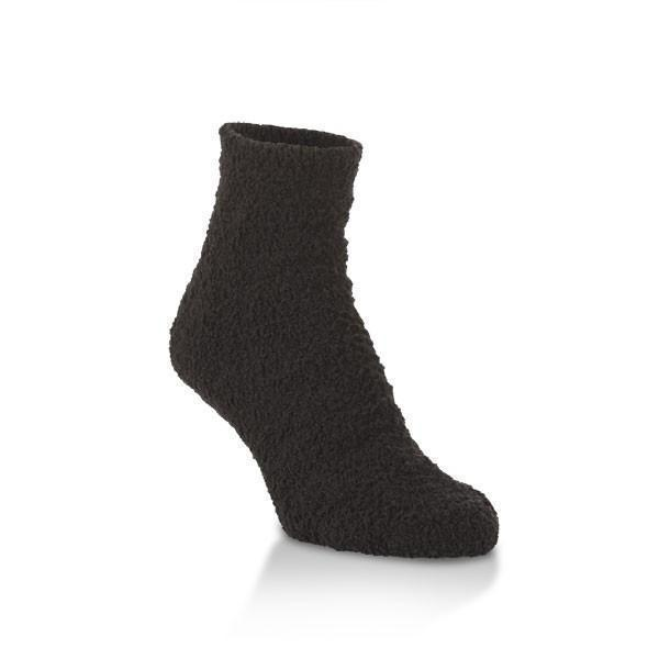 World's Softest - Black Cozy Quarter Ankle Socks | Women's - Knock Your Socks Off