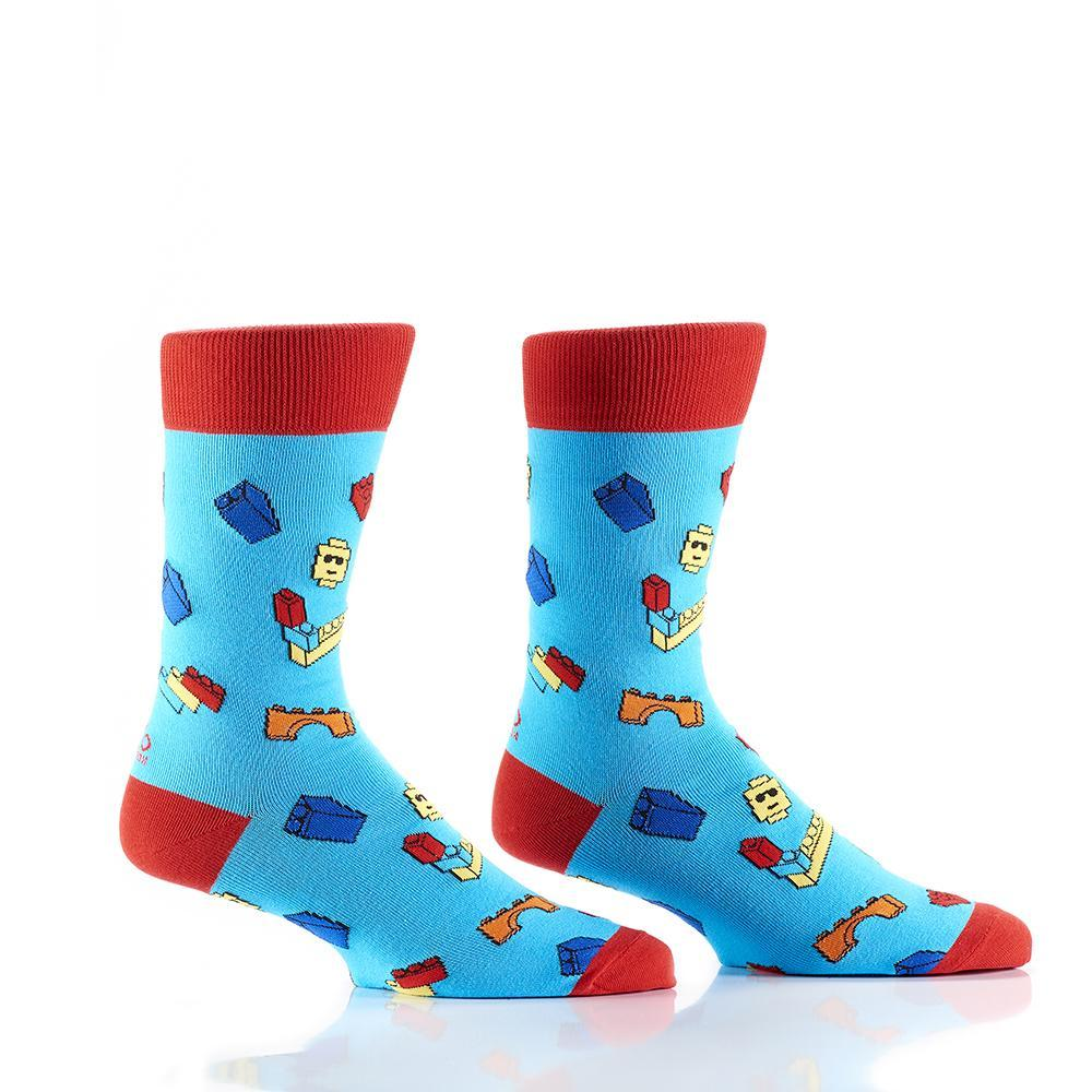 Yo Sox - Brick Bros Crew Socks | Men's - Knock Your Socks Off