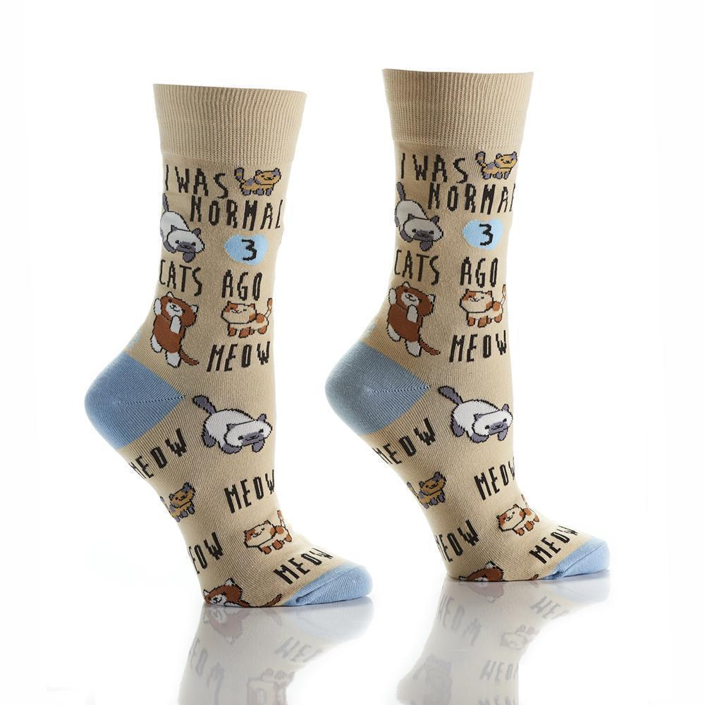 Yo Sox - Cat Lady Crew Socks | Women's - Knock Your Socks Off